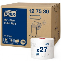 Tork Mid-size papier toaletowy (127530) - 100 m, karton 27 szt.