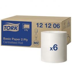 Tork czyściwo papierowe do podstawowych zadań 2-warstwowe (121206) - 160 m, opakowanie 6 szt