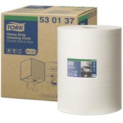 Tork białe czyściwo włókninowe wielozadaniowe do trudnych zabrudzeń (530137) - 106,4 m