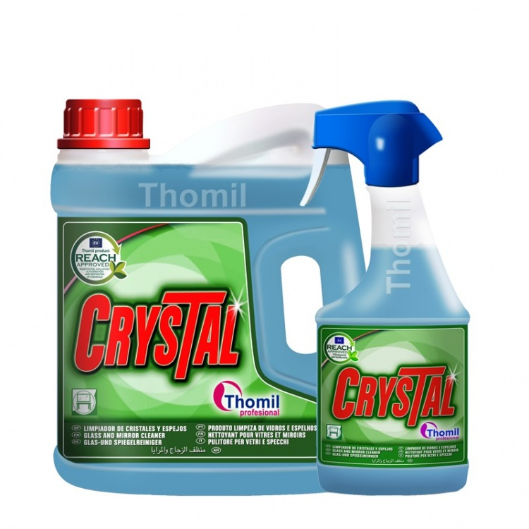 Thomil Crystal - środek do mycia i polerowania powierzchni szklanych