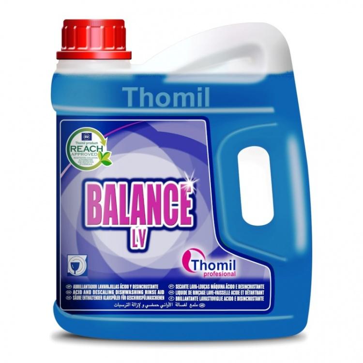 Thomil Balance LV - kwaśny płyn płucząco-nabłyszczający do zmywarek zasilanych bardzo twardą wodą 4kg