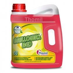 Thomil Brillowax Red - czerwony wosk do wszystkich powierzchni poza drewnianymi i korkowymi - 4 l