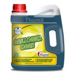 Thomil Brillowax Dark - czarny wosk do wszystkich powierzchni poza drewnianymi i korkowymi - 4 l