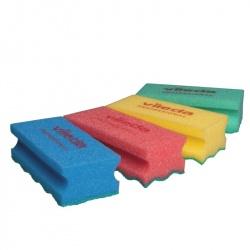 Gąbka (myjka) PurActive - 15x7 cm, różne kolory, opakowanie 10 szt. - Vileda Professional