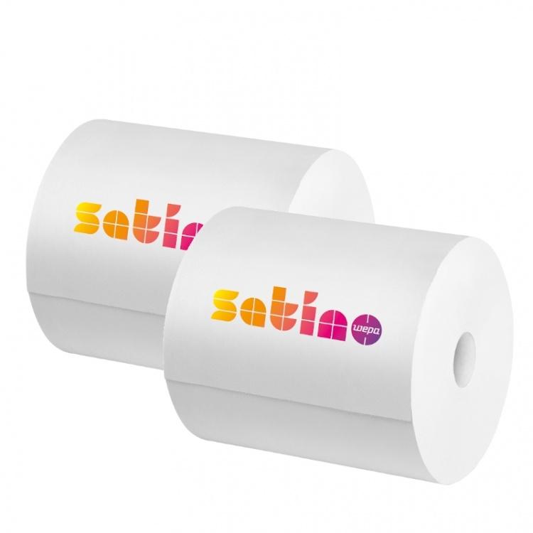 Czyściwo papierowe SATINO COMFORT (305290) - 23x35 cm, 2 warstwowy, 350 m, 1000 odc., opakowanie 2 szt