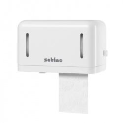 Mały dozownik na dwie rolki papieru toaletowego (rolki konwencjonalne) - Satiny by Wepa