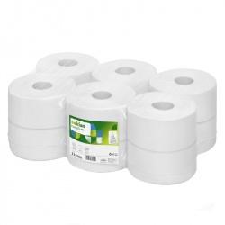 Papier toaletowy centralnie dozowany w roli Jumbo SATINO COMFORT (31758) - 2 warstwowy, 180 m, opakowanie 12 szt.