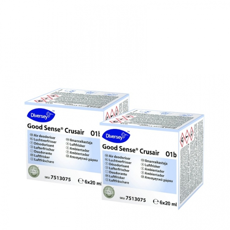 Diversey Good Sense Crusair - odświeżacz powietrza o zapachu mięty i eukaliptusa - wkład 2x6x20 ml