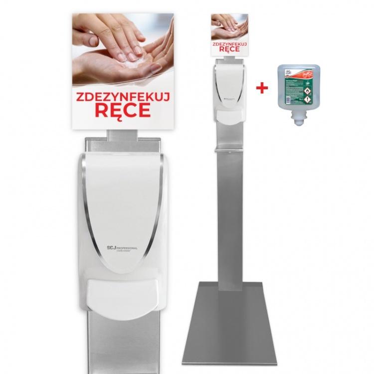 Zestaw Stojak na preparat do dezynfekcji rąk  dozownik  wkład InstantFoam Complete 1000 ml