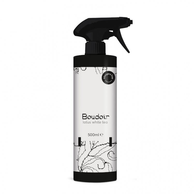 Ultra Scent Spring Air Premium Boudoir Lotus White Tea - odświeżacz powietrza (do tkanin) - 500 ml