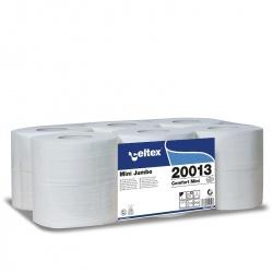 Celtex COMFORT MINI - papier toaletowy w rolkach konwencjonalnych (C20013) - 2 warstwowy, 130 m, 725 listków, opakowanie 12 szt.
