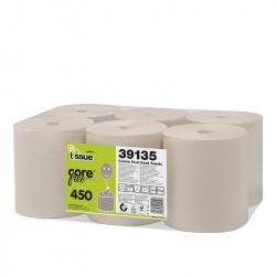Celtex E-TISSUE - ręcznik centralnego dozowania w roli, bez gilzy (C39135) - 2 warstwy, 135 m, opakowanie 6 szt