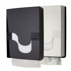 Celtex MEGAMINI - dozownik do ręczników w składce wielopanelowej (biały, czarny)