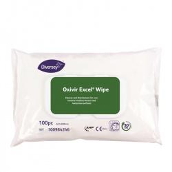 Diversey Oxivir Excel Wipe - preparat myjąco-dezynfekujący w chusteczek - 100 szt.