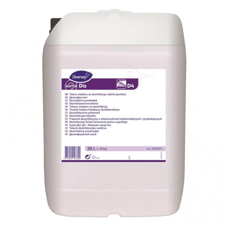 Diversey Suma Dis D4 - preparat dezynfekcyjno-myjący - 20 l