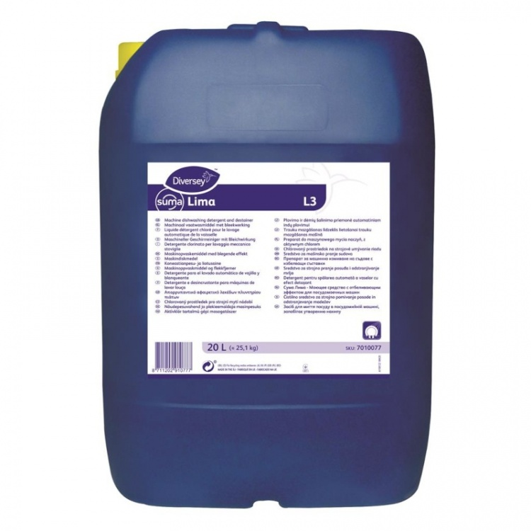 Diversey Suma LIMA L3 - preparat do maszynowego mycia naczyń z aktywnym chlorem - 20 l