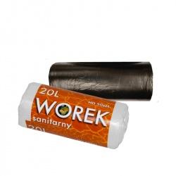 Worki foliowe na odpady HDPE (cienkie) 20 l - 50 szt - Olimar