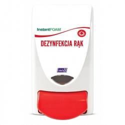 Dozownik do preparatów dezynfekujących dłonie (opis w języku polskim) - pojemność 1 litr Deb-STOKO