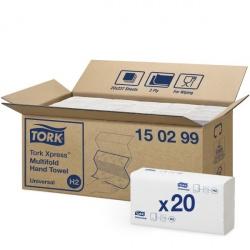 Tork Xpress® H2 ręcznik Multifold w składce wielopanelowej (150299) - 237 odc./binda, opakowanie 20 szt
