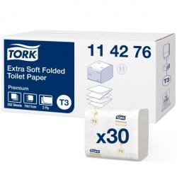 Tork ekstra miękki papier toaletowy w składce (114276) - 252 odc./binda, opakowanie 30 szt.