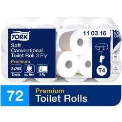 Tork miękki papier toaletowy w rolce konwencjonalnej (110316) - 35 m, opakowanie 72 szt.