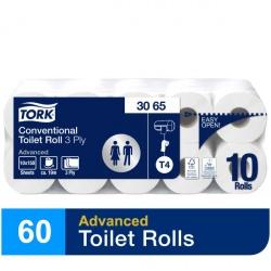 Tork miękki papier toaletowy w rolce konwencjonalnej (3065) - 19,4 m, opakowanie 6x10 szt.