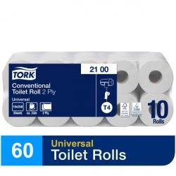 Tork szary papier toaletowy w rolce konwencjonalnej (2100) - 32,5 m, opakowanie 6x10 szt.
