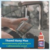 Profesjonalna pomoc w Twojej kuchni!  Kony Plus to skoncentrowany płyn do mycia i odtłuszczania naczyń marki Thomil. Produkt świetnie sobie radzi z zabrudzeniami od tłuszczu, pozostawiając naczynia czyste i bez smug ✔️  Dodatkowo: 🔸 płyn posiada przyjemny, cytrusowy zapach, 🔸 w składzie znajdują się substancje nawilżające, które chronią i pielęgnują dłonie, 🔸 produkt jest biodegradowalny.  Dowiedz się więcej na higiena24.com   #higiena #higiena24 #czystość #płyndonaczyń #naczynia #zmywanie #sprzątanie #porządki #czystydom #kuchnia #dodomu #thomil #dom #mieszkanie #mjakmieszkanie #naszdom #talerze